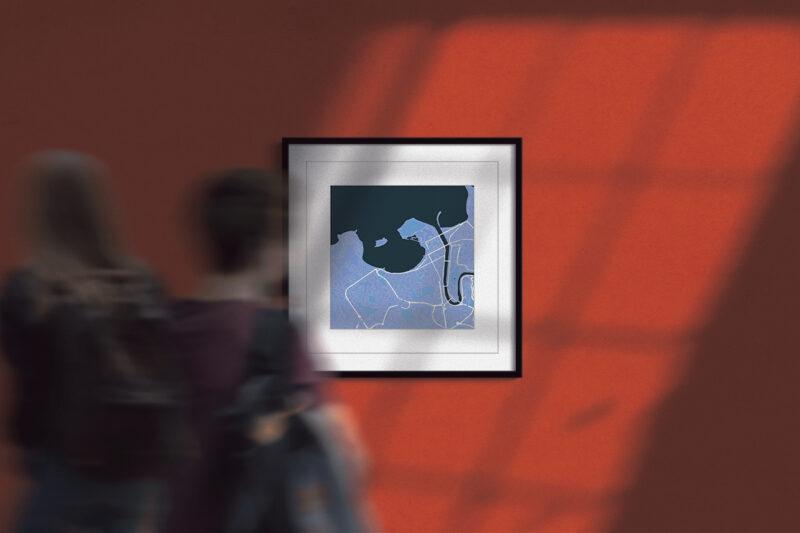 "8 Reasons why you should consider buying our San Sebastián/Donostia Framed Wall Art Print  ""Cool Blue"" City Map 1"